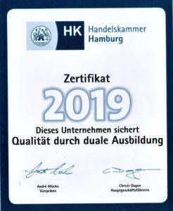 HK Zertifikat duale Ausbildung 2019